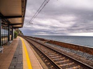 manarola station cinque terre in Italy