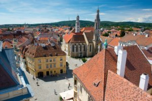 Main square in Hungary Sopron