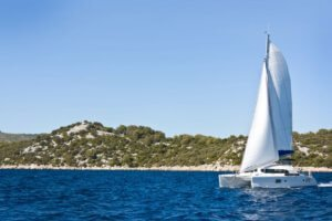 Sailing in Adriatic sea, Croatia