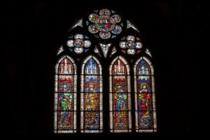 Strasbourg cathedral stained glass windows