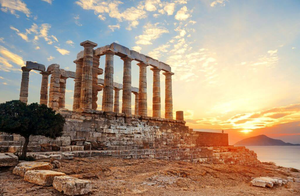 Temple of Poseidon Sunset feature image