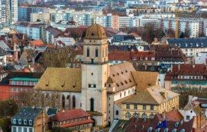 View of the Sainte-Madeleine Church in Strasbourg