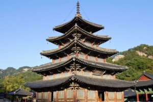 Beopjusa temple, Songnisan National Park, Korea
