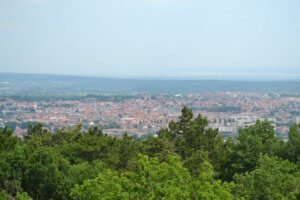 view above sopron in hungary