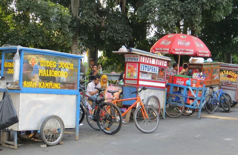 indonesia food carts