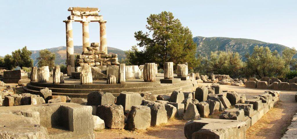 tholos at delphi sanctuary